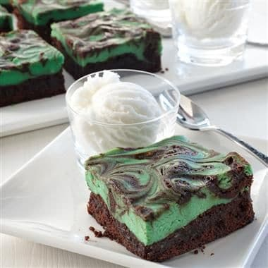 Irish Cream Swirl Brownies also make an amazing treat for your Patty Day green affair.