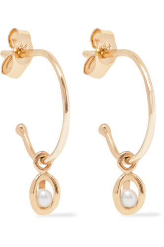 Net-a-Porter Sarah & Sebastian Pearl Earrings