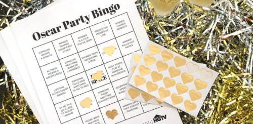 Oscars Party Bingo