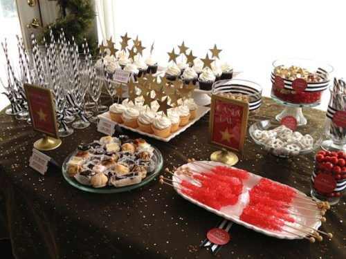 Oscars Party Food & Table Decor