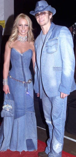 Britney Spears and Justin Timberlake made a fashion faux pas when they appeared in public as the Double Denim Couple.