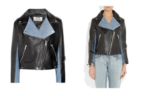 Denim & Leather: Check out this double down look featuring a stylish leather and denim jacket.