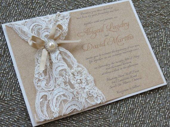 Ordering your wedding invitations: Lace & Pearl Wedding Invites