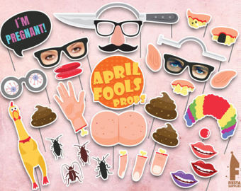 Printable April Fool's Day photo booth