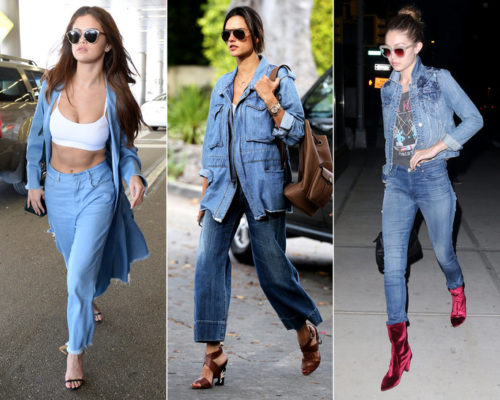 Selena Gomez and Other Celebrities Wearing Double Denim