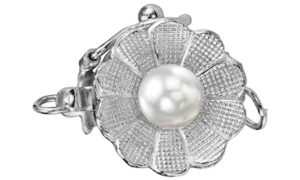 White Gold Pearl Flower Clasp from the Pearl Source