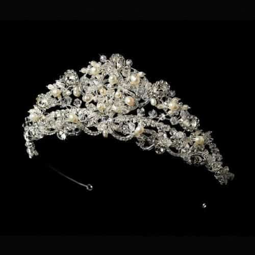 Giselle Pearl Wedding Tiara: Selecting the right accessories for your wedding dress