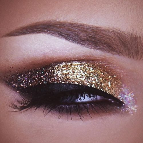 Glitter Infused Eye Makeup