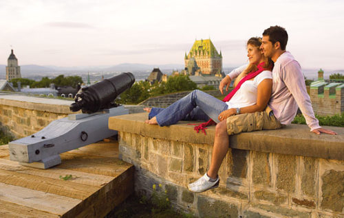 Honeymoon Couple in Quebec