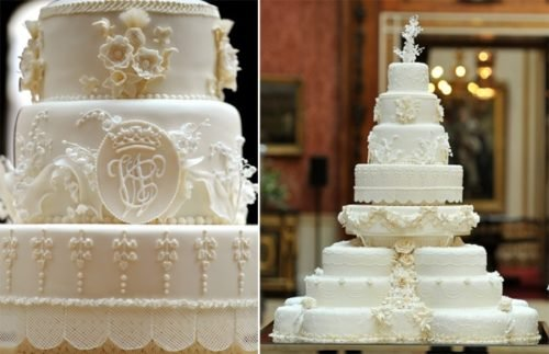 Kate Middleton's Bridal Cake Up Close