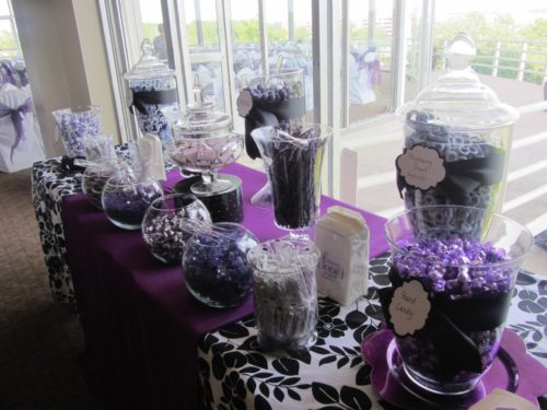 Perfect Pearl Theme Wedding Decor in Purple