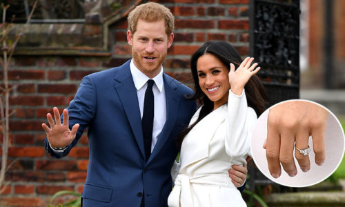 Prince Harry and Meghan Markle Engagement Photo. Check out the rock on her finger!
