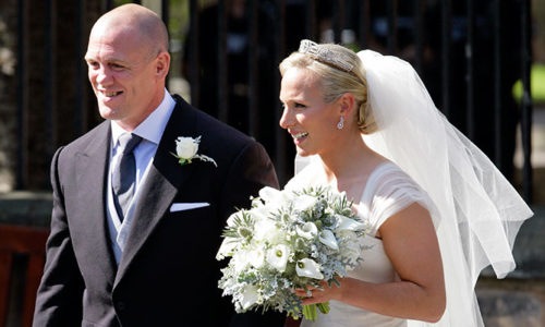 Zara Phillips and Mike Tindall at their royal wedding