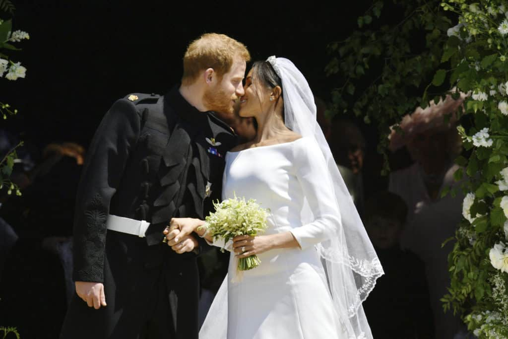 Prince Harry and Meghan Markle wedding kiss