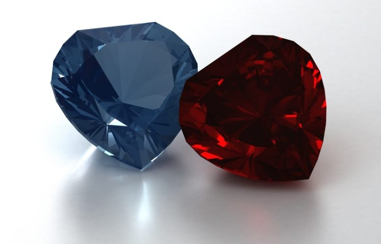 Birthstones Ruby and Topaz