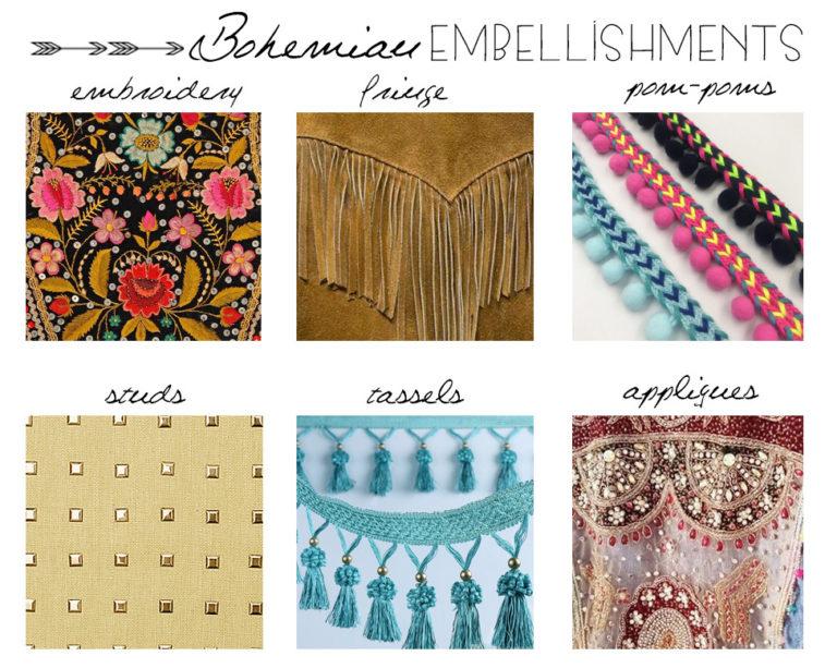 Adornos bohemios moda