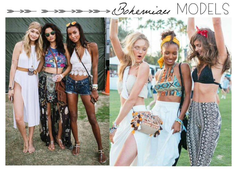 Modelos bohemias moda