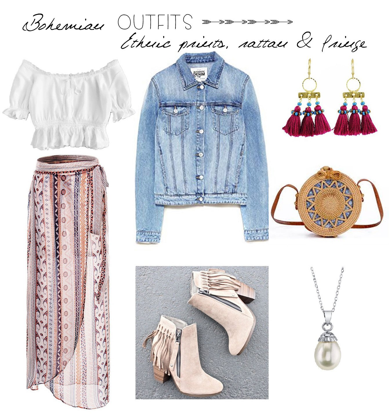 e6cd12d98b5b06 It doesn't get more boho than this. A more feminine approach to bohemian  style, with the mandatory ethnic prints in the mix, acid wash denim, ...