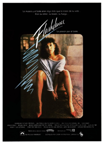 bf8e0c0bc00d9 The 1983 movie Flashdance represented the essence of the 1980's style.  Oversized sweatshirts for women, leg warmers, leggings, and asymmetrical  details ...