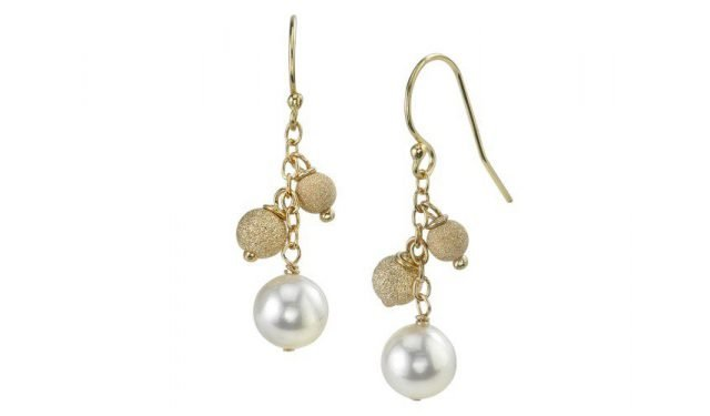 Japanese Akoya Pearl Stardust Earrings by The Pearl Source