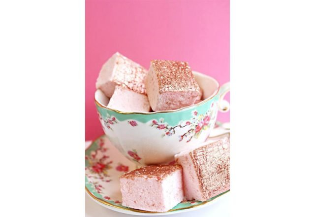 Rose Gold Rosé Marshmallows
