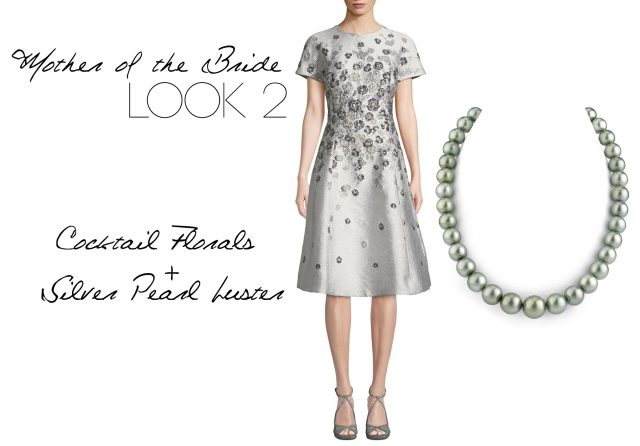 Cocktail Florals & Silver Pearl Luster