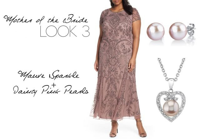 Mauve Sparkle & Dainty Pink Pearls