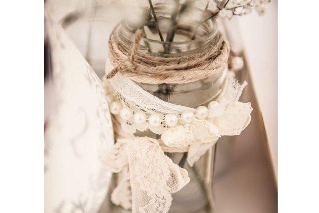 Pearl Lace Jar