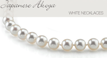 Japanese white Akoya Pearl Necklace - The Pearl Source