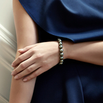 9-10mm Tahitian South Sea Pearl Bracelet - AAAA Quality - Model Image