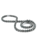 Opera Length 10-11mm Gray Tahitian South Sea Pearl Necklace - AAAA Quality