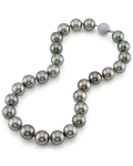 15-16.9mm Tahitian South Sea Pearl Necklace - AAAA Quality - Model Image