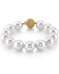 12-13mm White South Sea White Pearl Bracelet- AAAA Quality - Model Image