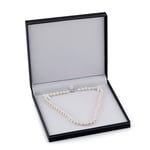 9-10mm White Freshwater Pearl Necklace - AAAA Quality - Third Image