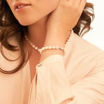 7-8mm White Freshwater Pearl Bracelet - AAA Quality - Model Image