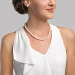 8.5-9.0mm Japanese Akoya White Pearl Necklace- AA+ Quality - Secondary Image