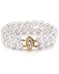 Japanese Large Akoya White Pearl Double Bracelet- Choose Your Quality - Secondary Image