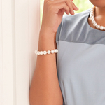 9-10mm White South Sea Pearl Bracelet - Model Image