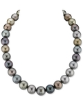 12-14mm Tahitian South Sea Multicolor Pearl Necklace - AAAA Quality