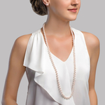7-8mm Opera Length Freshwater Pearl Necklace - Secondary Image