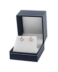9mm Pink Freshwater Pearl Stud Earrings - Fourth Image