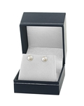 7.0-7.5mm White Akoya Pearl Stud Earrings - Fourth Image