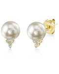 Akoya Pearl & Diamond Grace Earrings - Third Image