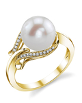 Freshwater Pearl & Diamond Willow Ring - Third Image