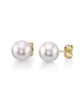 7.0-7.5mm White Akoya Pearl Stud Earrings - Third Image