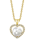 White South Sea Pearl & Diamond Amour Pendant - Third Image