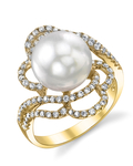 South Sea Pearl & Diamond Annabelle Ring - Model Image