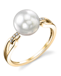 South Sea Pearl & Diamond Holly Ring - Model Image
