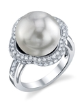 South Sea Pearl & Diamond Patricia Ring