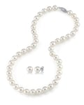 7-8mm Freshwater Choker Length Pearl Necklace & Earrings